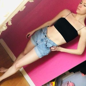 Urban outfitters denim high waisted shorts